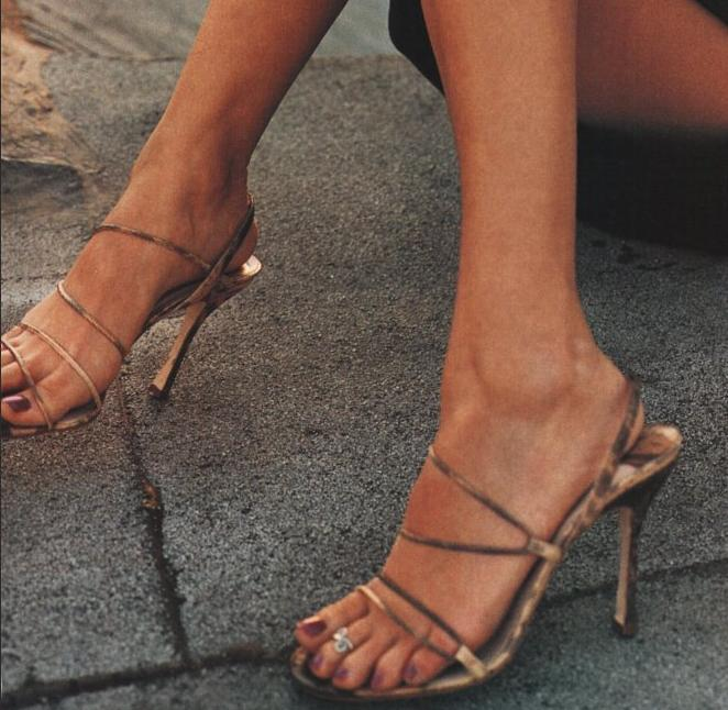 Toe Ring Celebrity High Heels And Feet