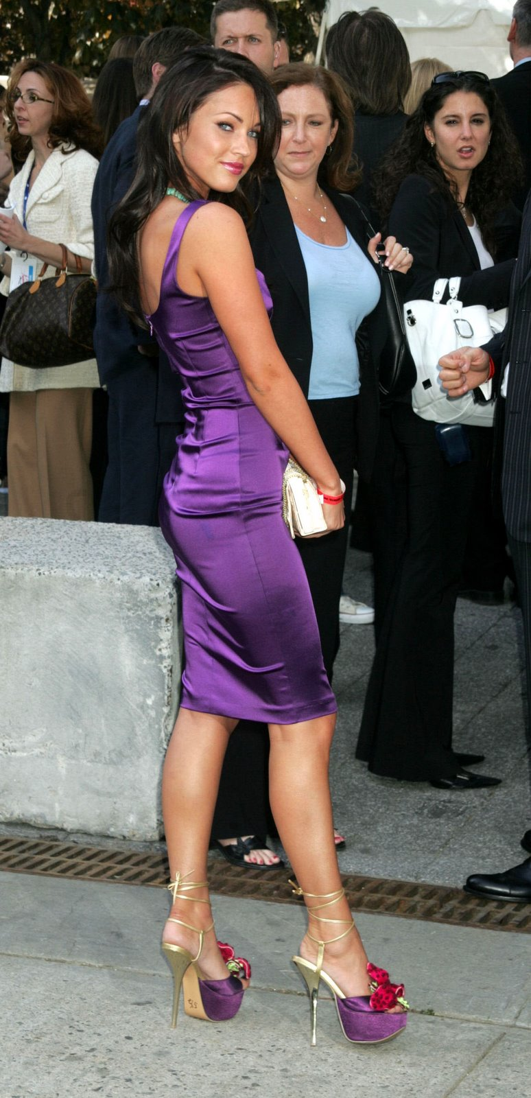 f43347279b9 Megan Fox – Purple Platform Heels To Die For | Celebrity High Heels ...