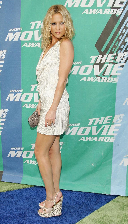 Kate Hudson Summer Cork Slingback Wedges Celebrity High Heels And Feet