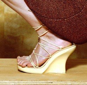 Kirsten Dunst White Platform Wedges