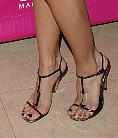 Celebrity high heels and feet free celebritys in high heels annalynne mccord in stunning t strap sandals with black polish voltagebd Image collections